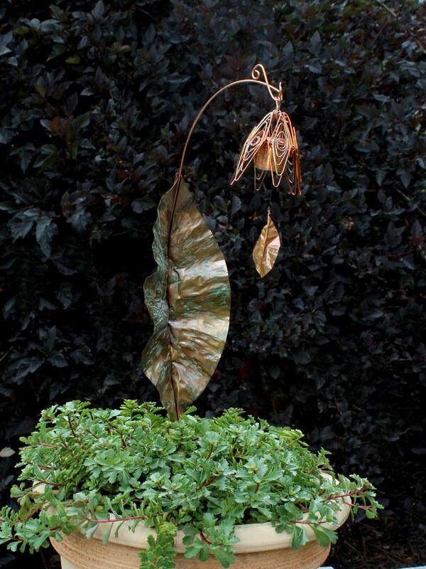 Bellflower Chime Garden Stake Flamed