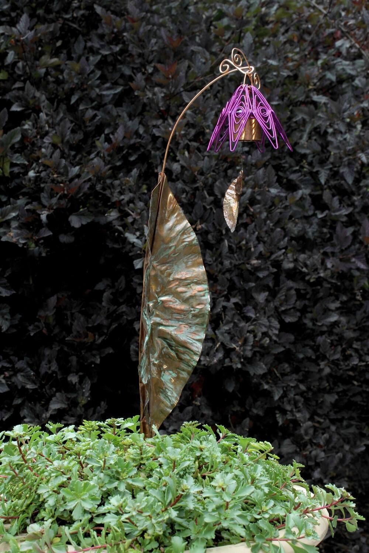 Bellflower Chime Garden Stake Amethyst