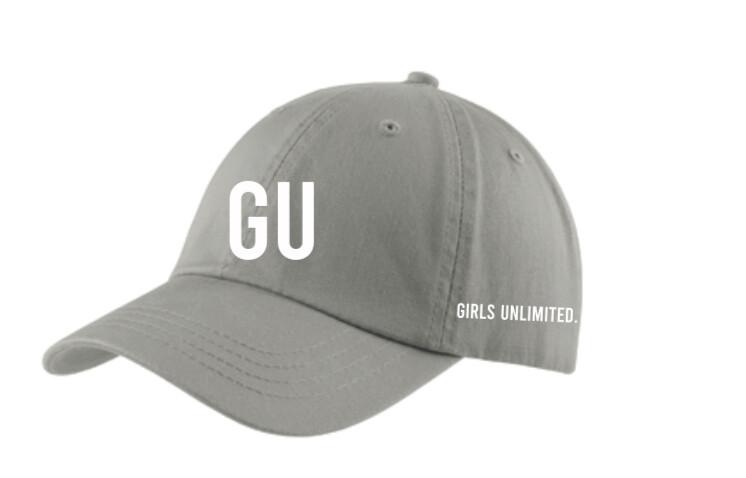 Unisex Washed Twill Cap- GREY
