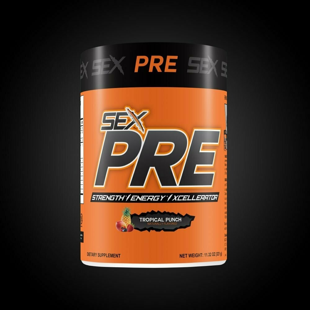 SEX Pre-Workout. Extremely strong non-bloating. Made in the USA.