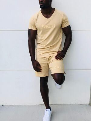 BEASY MEN'S V-NECK SHIRT & SHORT SET
