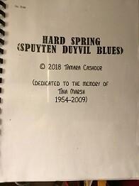 HARD SPRING:  Spuyten Duyvil Blues