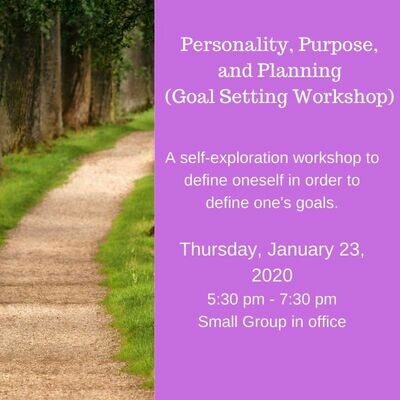 Personality, Purpose, & Planning 1/23