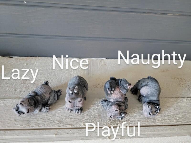 Mini Hippo - Painted
