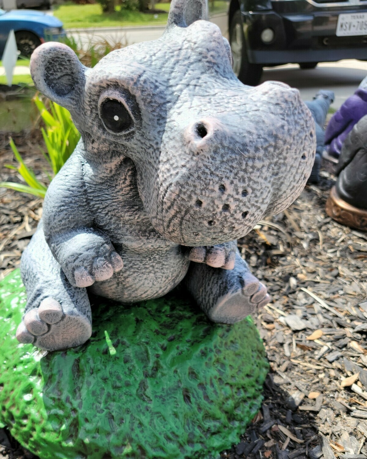 Sitting Adorable Hippo