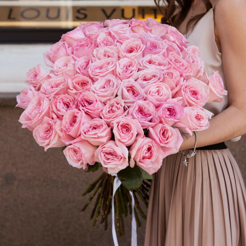 51 пионовидная роза (Эквадор) Пинк Охара