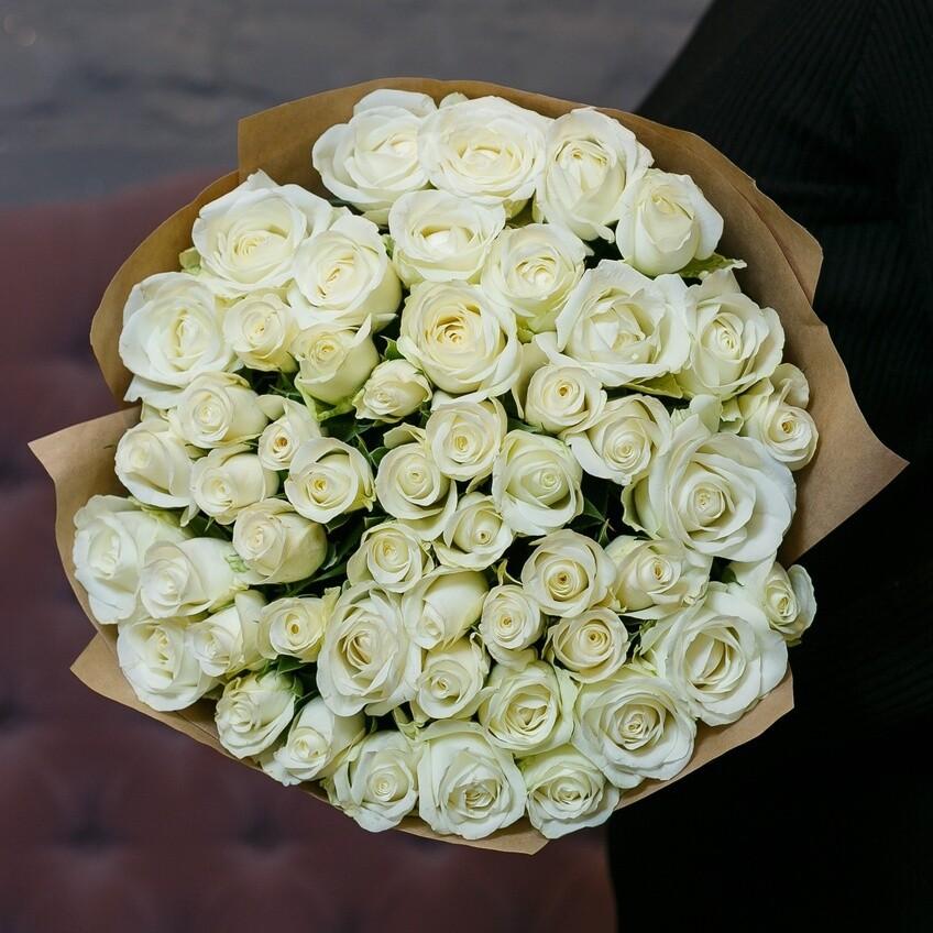 51 белая роза (Россия) Белуга 60 см