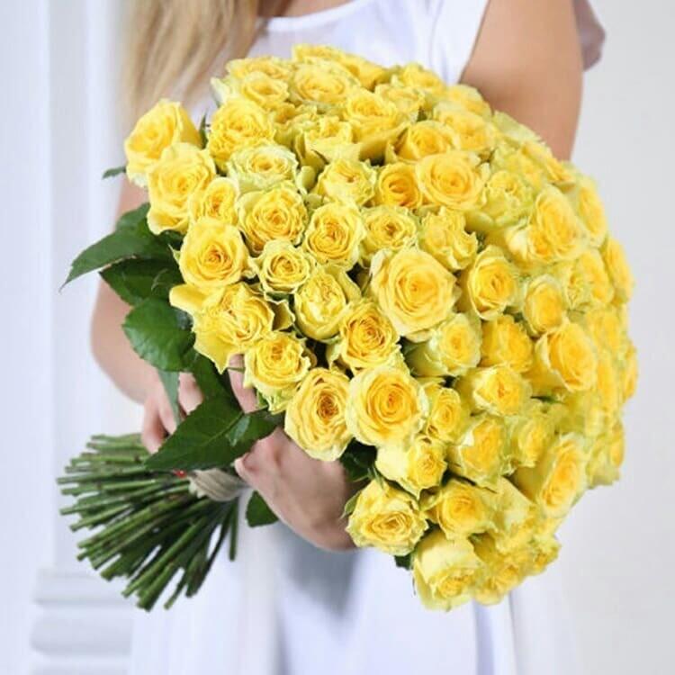 51 жёлтая роза (Россия) Голден Амбишн