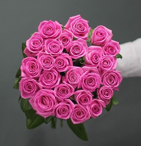 25 роз (Россия) Аква 60 см