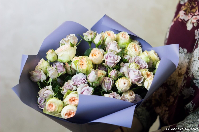 """Букет из кустовой розы """"Мускида"""""""