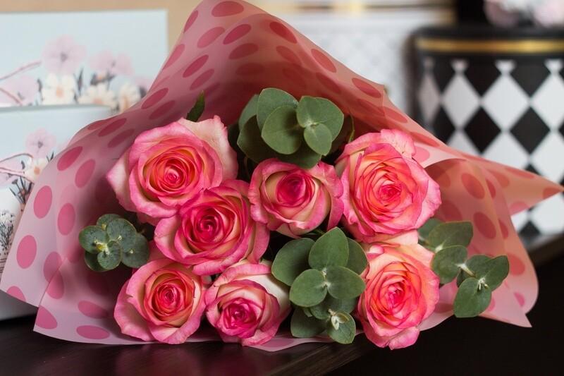 """Букет нежно-розовых роз """"Джумилия"""""""
