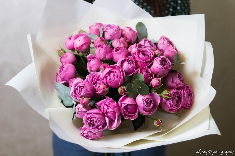 """Букет роз """" Мисти Баблз""""  11 шт"""