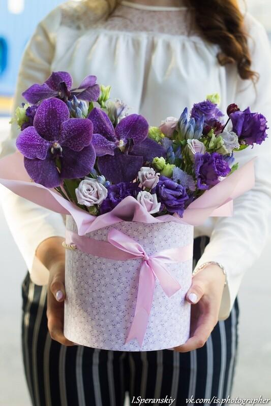 "Коробочка с цветами ""Лаванда"""