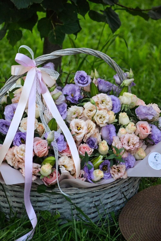 Авторская цветочная корзина