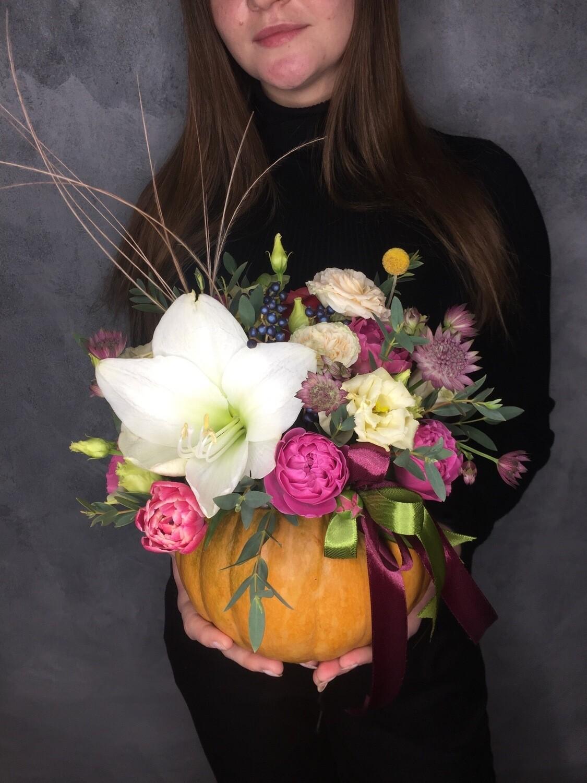 Авторская цветочная тыковка