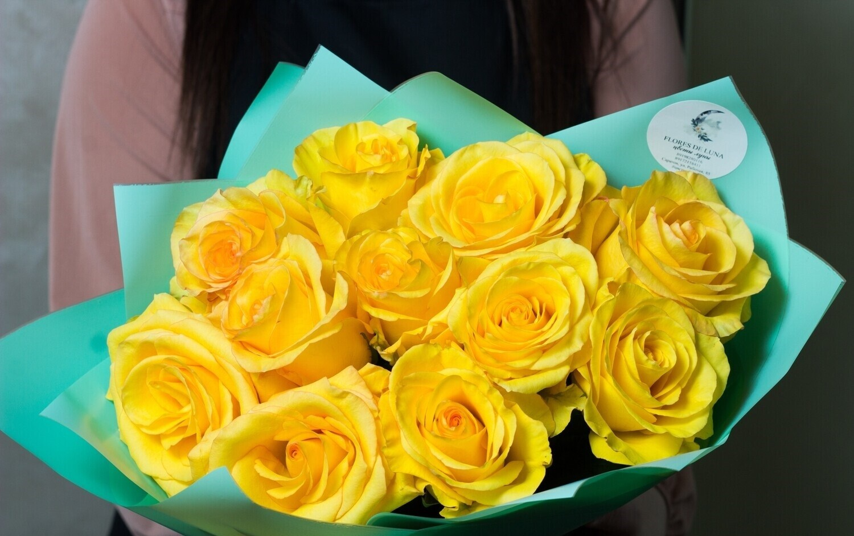 "Букет жёлтых роз ""Алиот"""