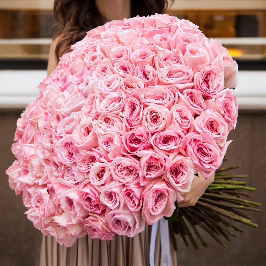 101 нежная пионовидная роза Эквадор