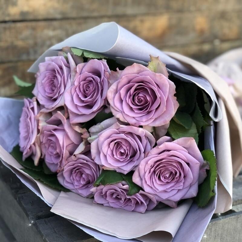 9 сиреневых роз Эквадор