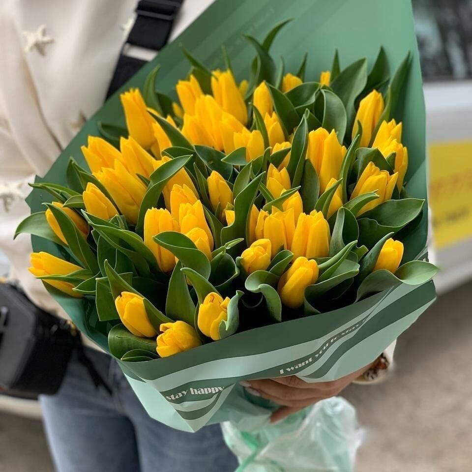 41 жёлтый тюльпан