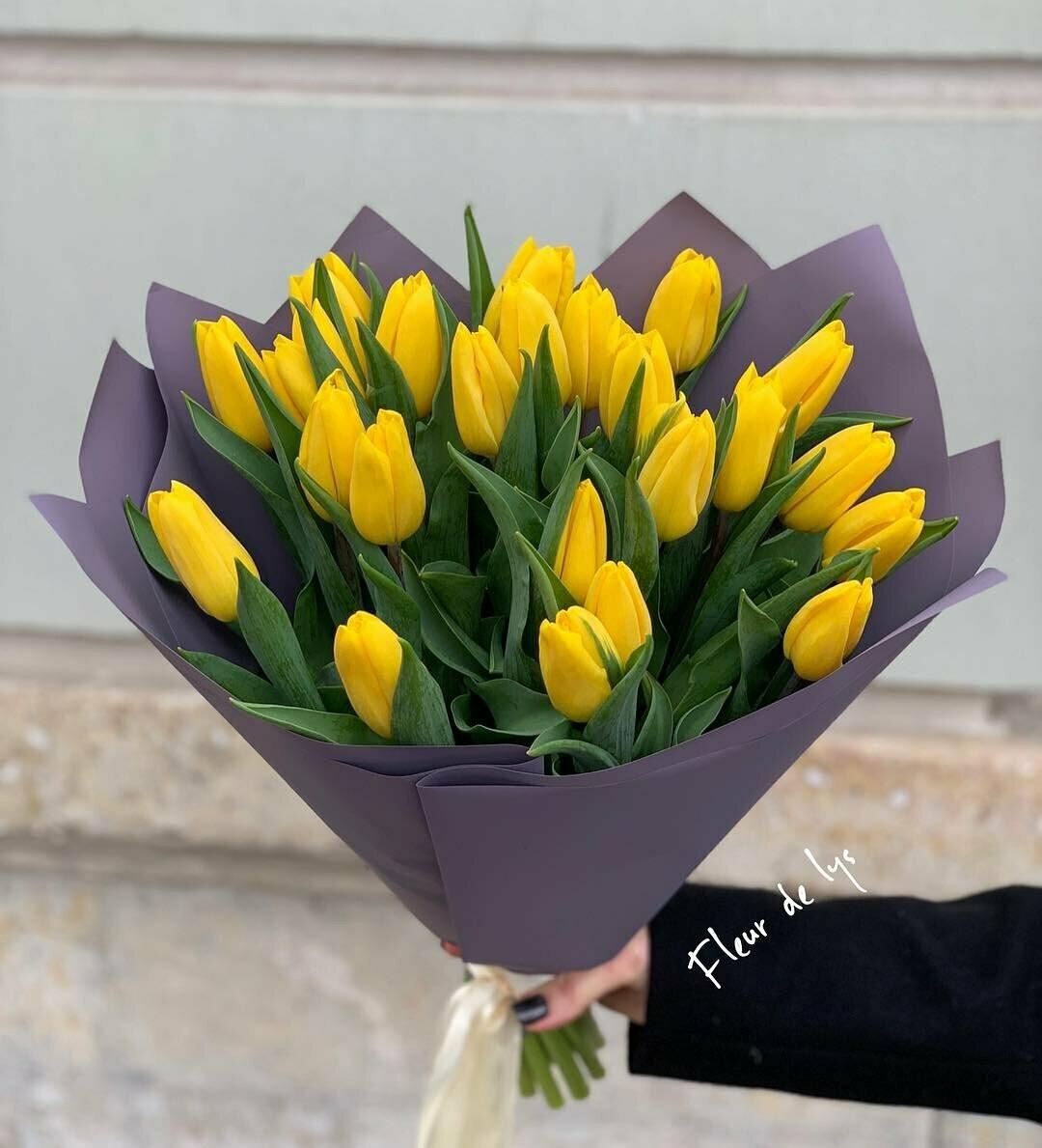 21 жёлтый тюльпан