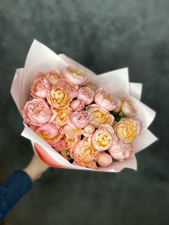 Букет кустовой Розы «Джульетта 9шт»