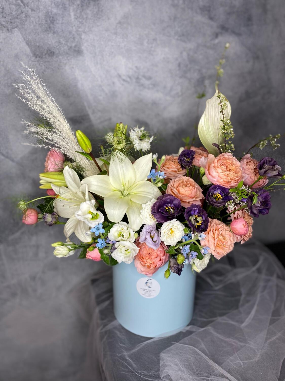 Авторская Коробочка с цветами «Андерсон»