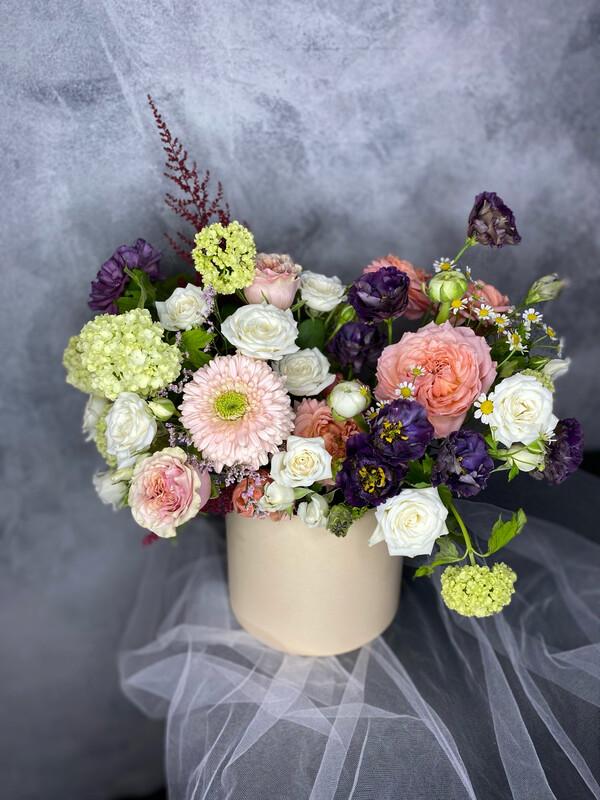 Авторская Коробочка с цветами «Брауни»