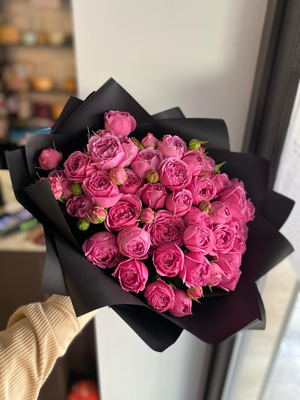Букет кустовых роз «Мисти Баблз»