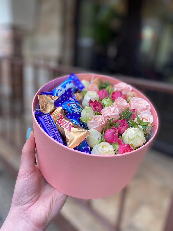 Сладкая Коробочка с цветами «Бабл Гам 2»