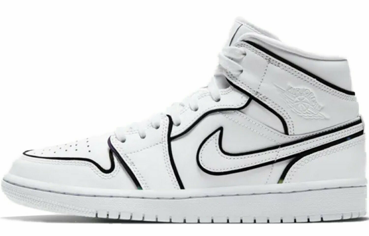 air jordan 1 mid blanco
