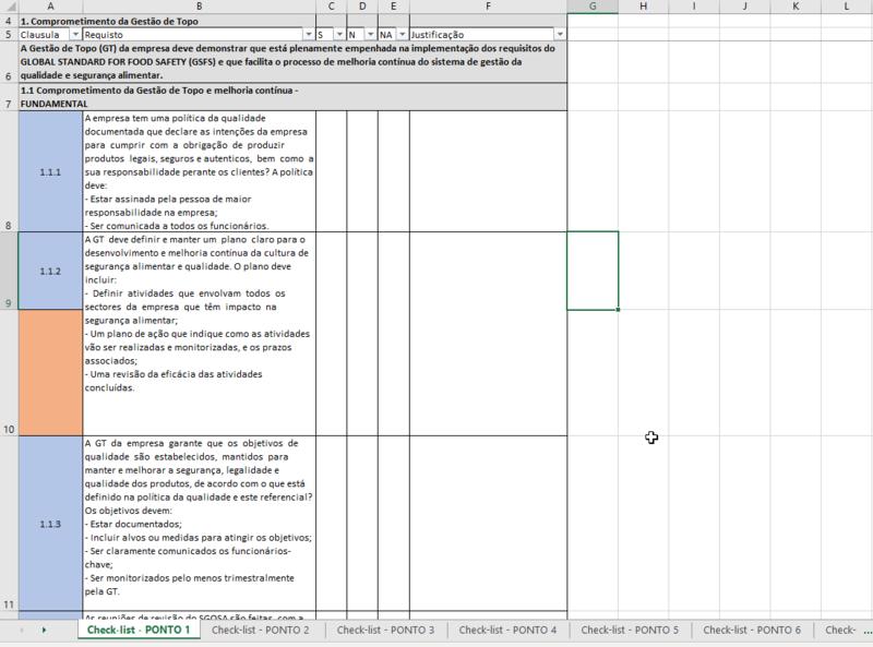 Checklist de Auditoria Interna BRC v8