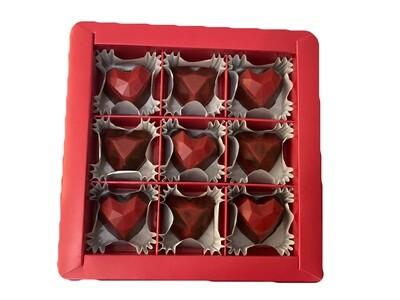 Коробка корпусных конфет 9шт.