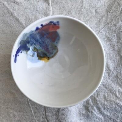 Petit bol en porcelaine abstrait