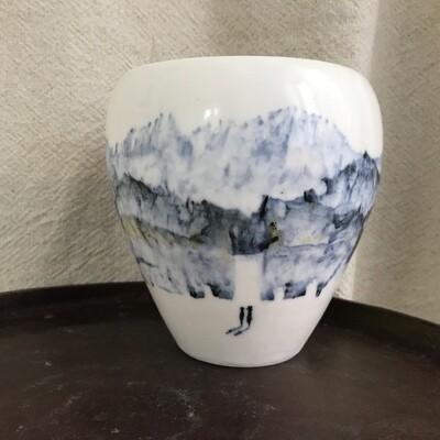 Vase paysage porcelaine