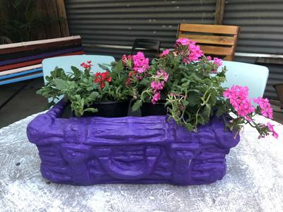 Mini Suitcase Planter Painted Finish - L510mm x H60mm x W350mm - 12kg