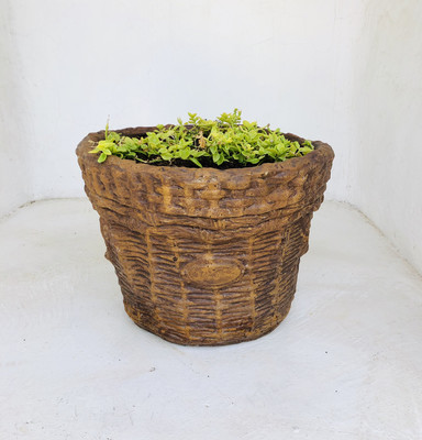 Large Woven Basket Honeyclay Finish - L700mm x W530mm x H410mm - 23kg