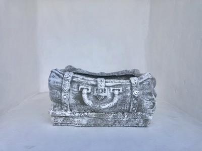 Travel Suitcase Planter Whitewash Finish - L660mm x H250mm x W530mm - 30kg