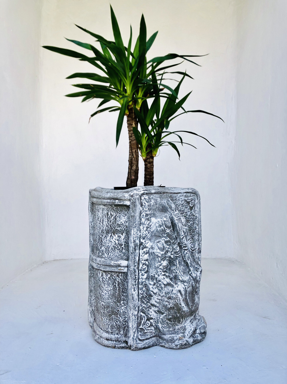 Holding Hands Book Planter Whitewash Finish - L410mm x W400mm x H470mm - 26kg