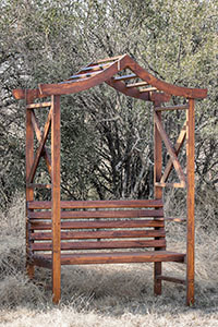 Oriental Arbour Bench 1220x700x2200