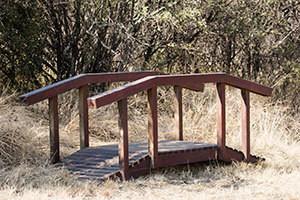 Wooden Koi Pond Bridge L2500mm x W900mm