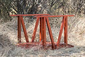 Wooden Flat Bridge L1500mm x W900mm