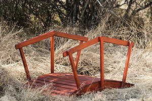 Wooden Half Moon Bridge L1300mm x W900mm