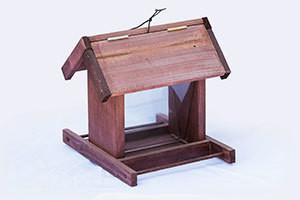 Wooden Utility Bird Feeder