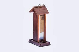 Wooden Tower Bird Feeder