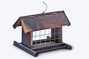 Wooden Exclusion Bird Feeder