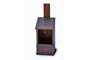 Wooden Tower Nesting Box Open