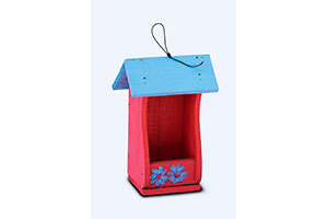 Wooden Decorative Bird House Open
