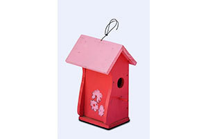 Wooden Decorative Bird House Closed