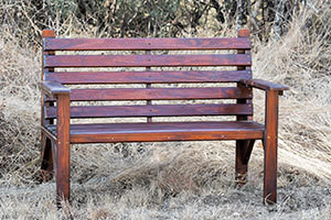Wooden Two Seater Bench L1200mm x W650mm
