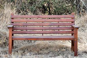 Wooden Three Seater Bench L1500mm x W650mm